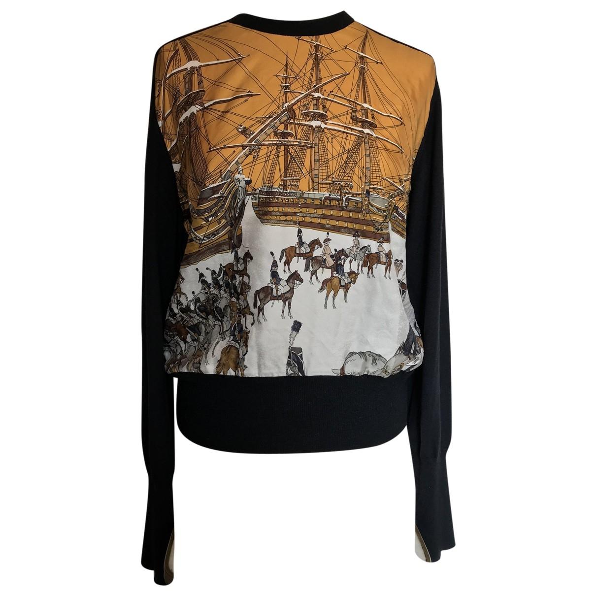 Hermes \N Pullover in  Schwarz Seide