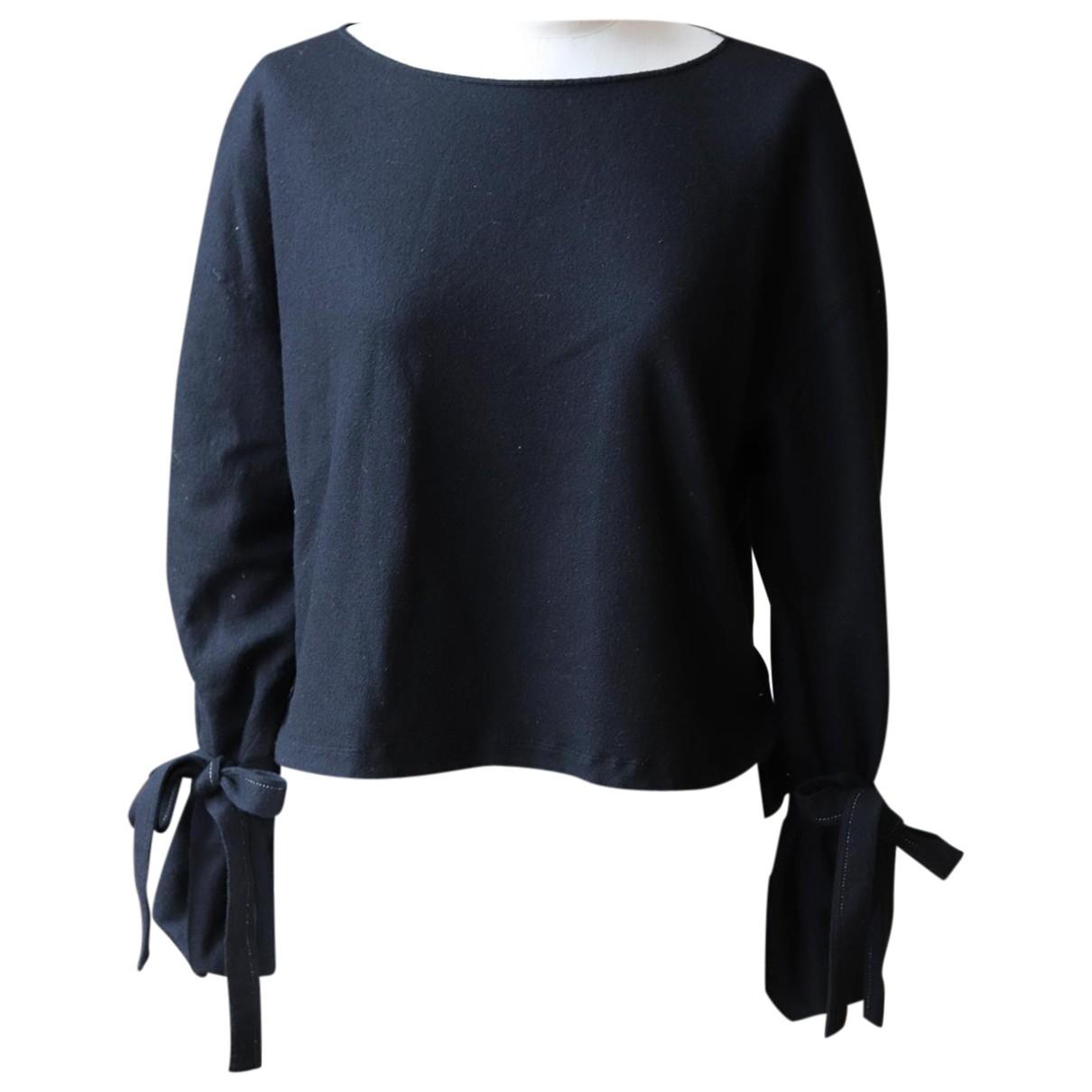 Helmut Lang - Pull   pour femme en laine - noir