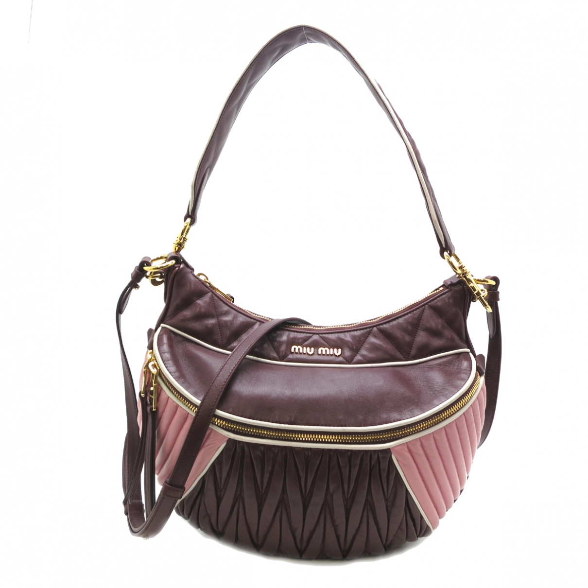 Miu Miu \N Handtasche in  Bordeauxrot Leder