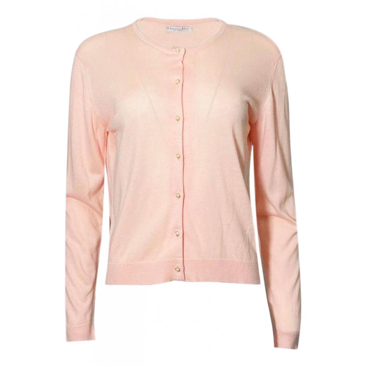 Dior - Pull   pour femme en soie - rose