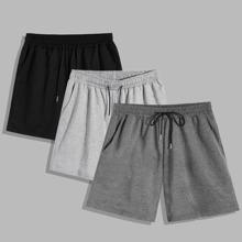 Verschiedenfarbig Taschen  Colorblocks Laessig Maenner Shorts