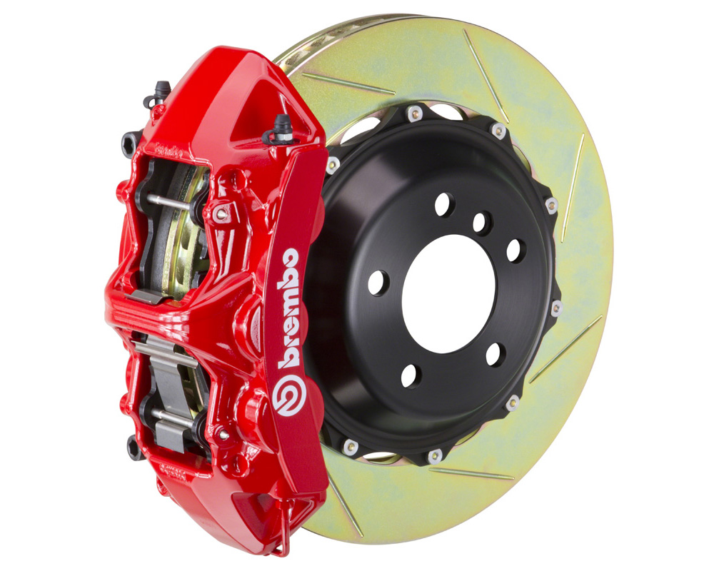 Brembo GT 380x32 2-Piece 6 Piston Red Slotted Front Big Brake Kit
