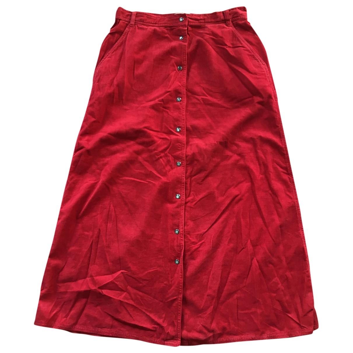 Cerruti - Jupe   pour femme en coton - rouge
