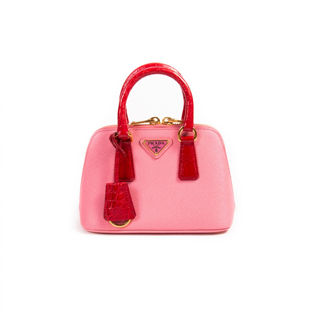Prada Promenade Pink Leather handbag for Women \N