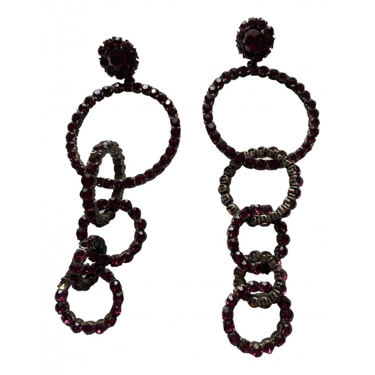 - Boucles doreilles   pour femme en metal - violet