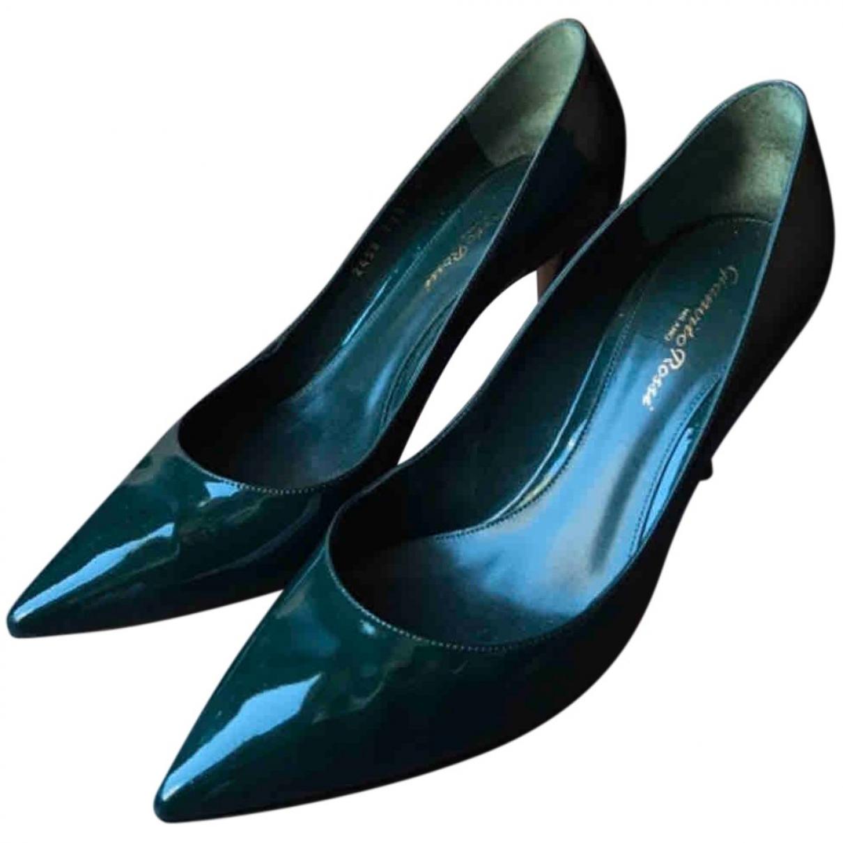 Gianvito Rossi - Escarpins Gianvito pour femme en cuir verni - vert