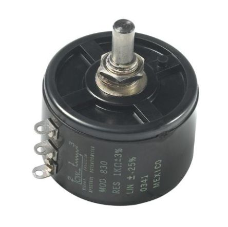 Vishay 1 Gang 3 Turn Rotary Wirewound Potentiometer with an 6.35 mm Dia. Shaft - 10kΩ, ±3%, 3W Power Rating, Linear,