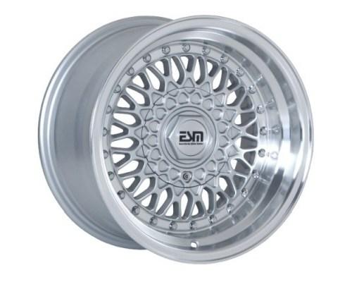 ESM Wheels ESM-002RSL15X9 Silver/Machined Polished Lip ESM-002R Cast Wheel 15x9 4/5x100 +10mm