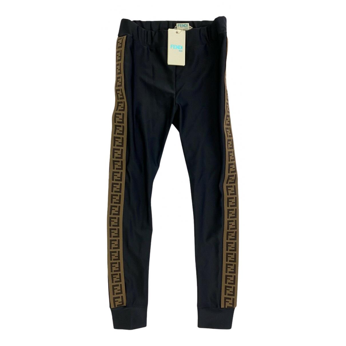 Fendi - Pantalon   pour enfant en elasthane - noir
