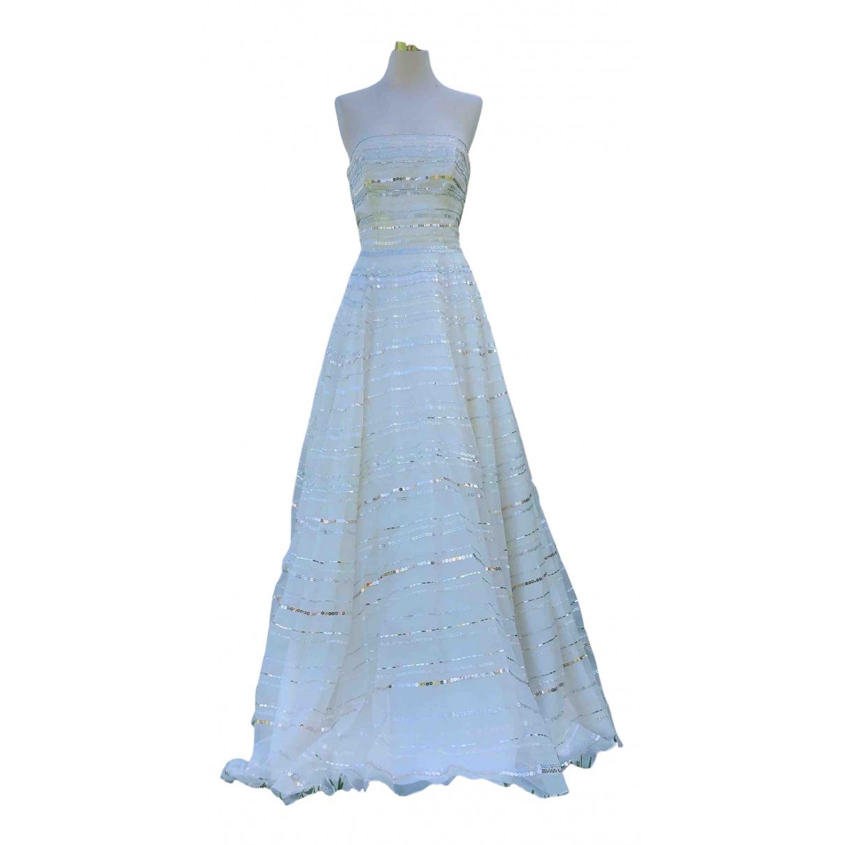 Jenny Packham - Robe   pour femme en soie - blanc