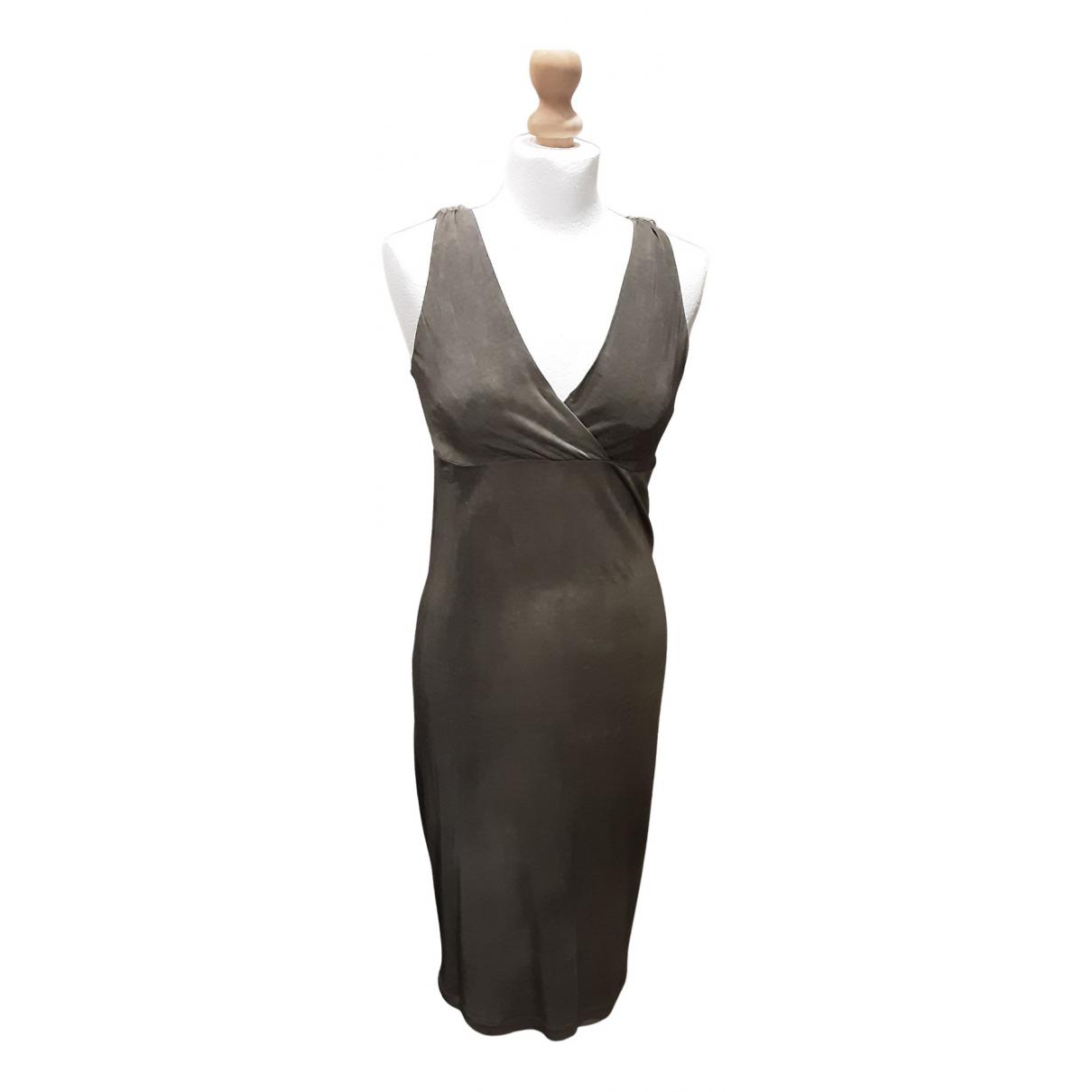 Alessandrini \N Kleid in  Khaki Viskose