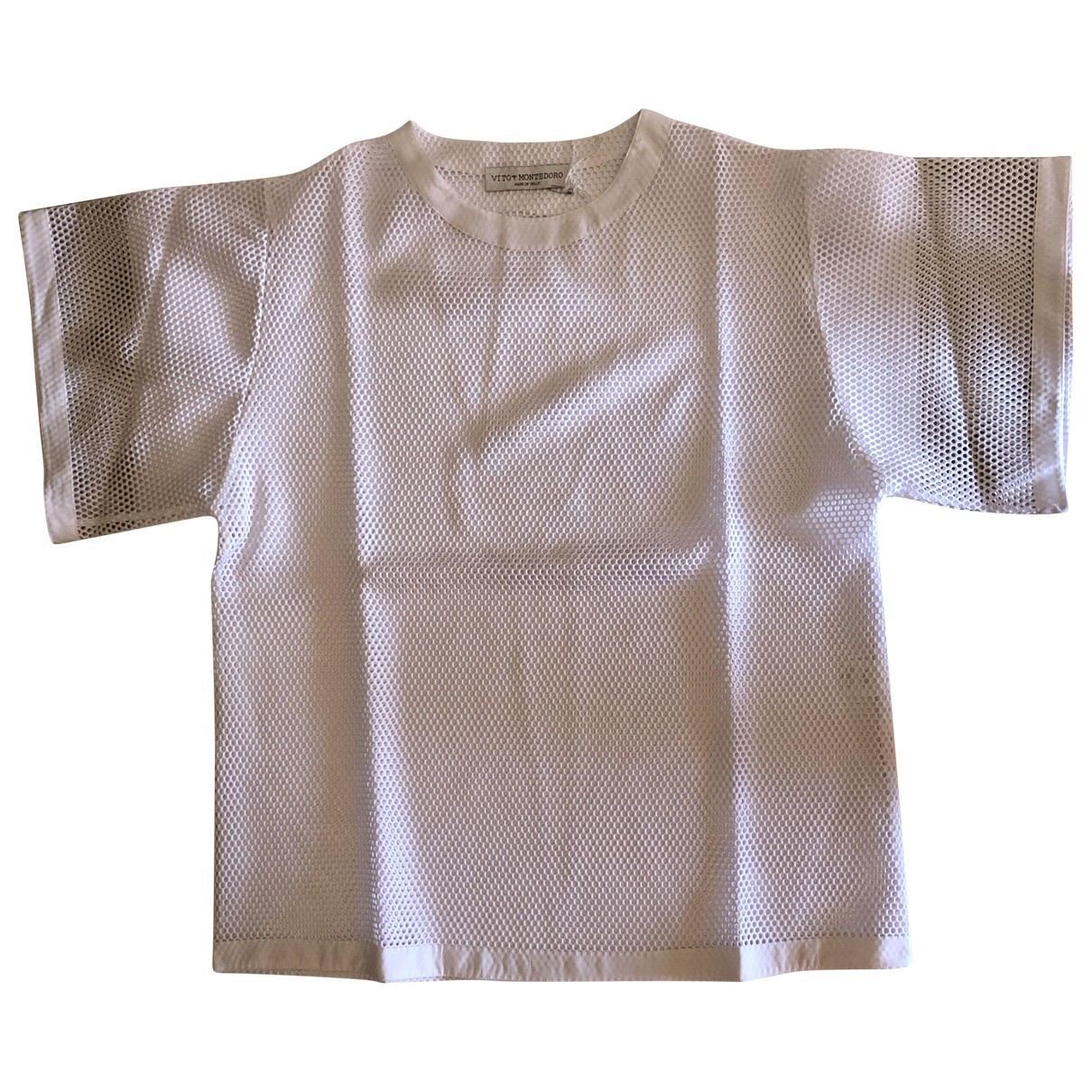 Non Signé / Unsigned Oversize White  top for Women L International