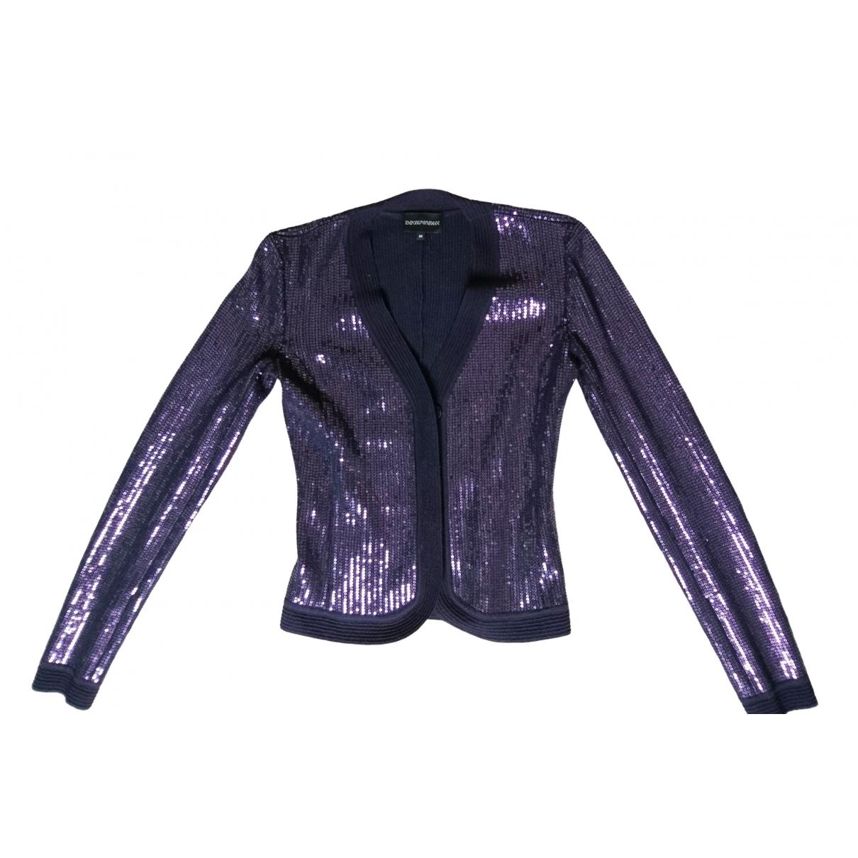 Emporio Armani \N Purple Wool jacket for Women 38 IT