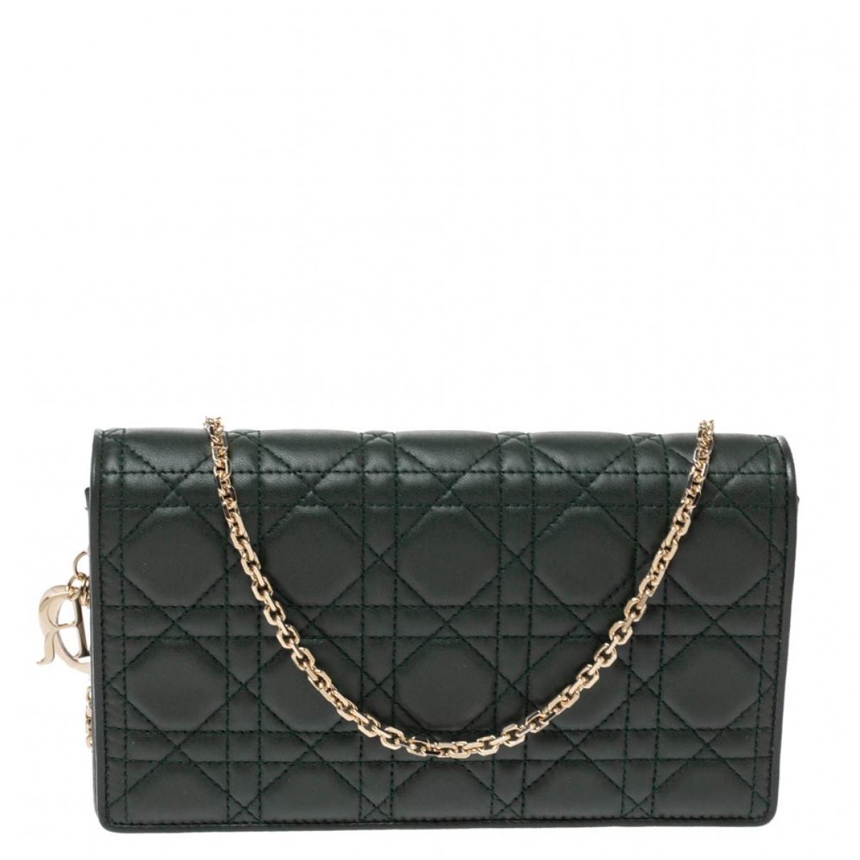 Dior - Pochette Lady Dior pour femme en cuir - vert