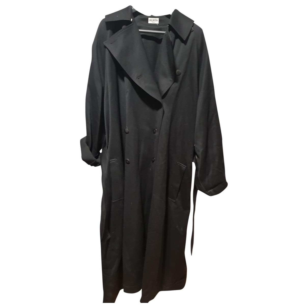 Alaïa \N Black Wool Trench coat for Women 48 FR