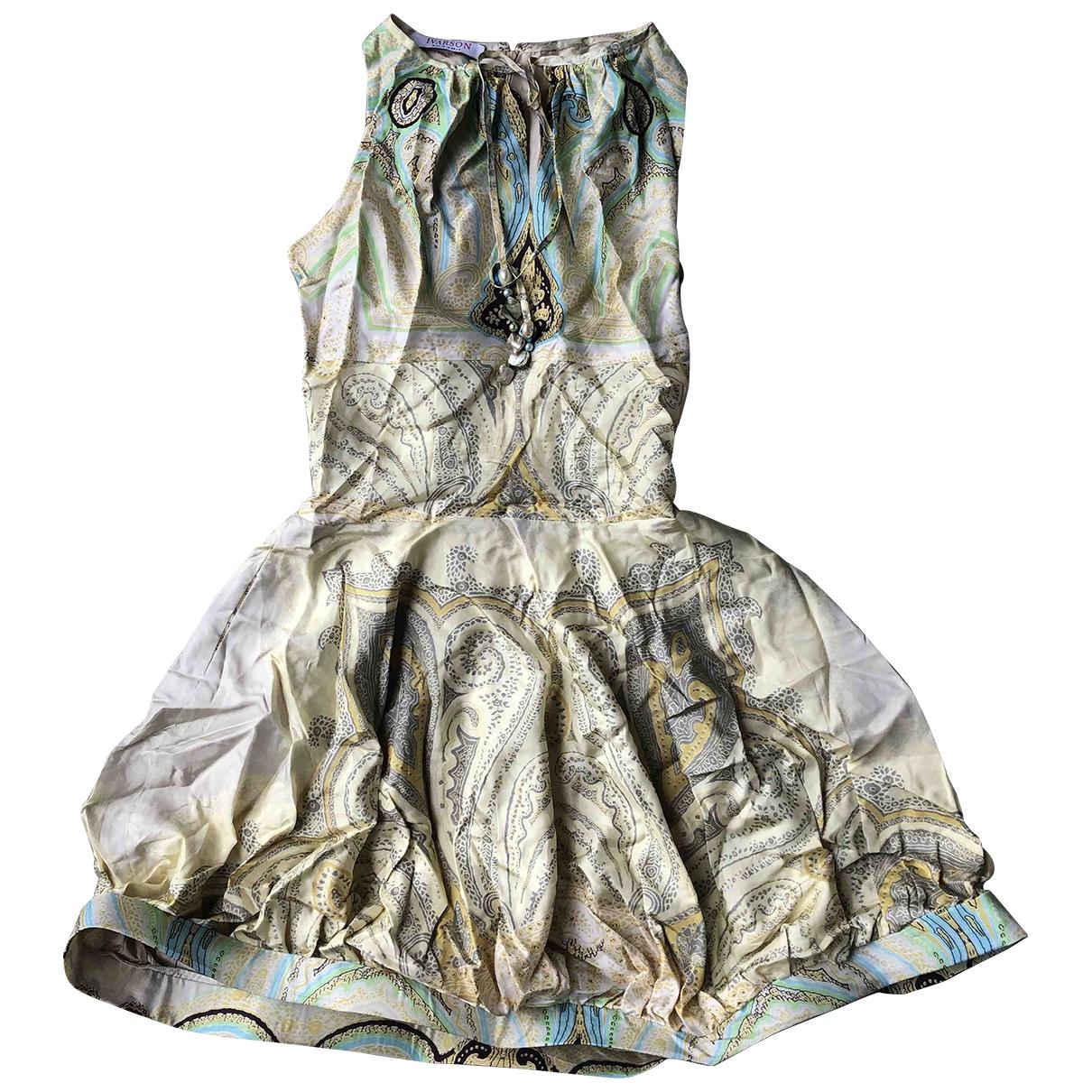 Non Signé / Unsigned \N Multicolour Silk dress for Women 38 FR