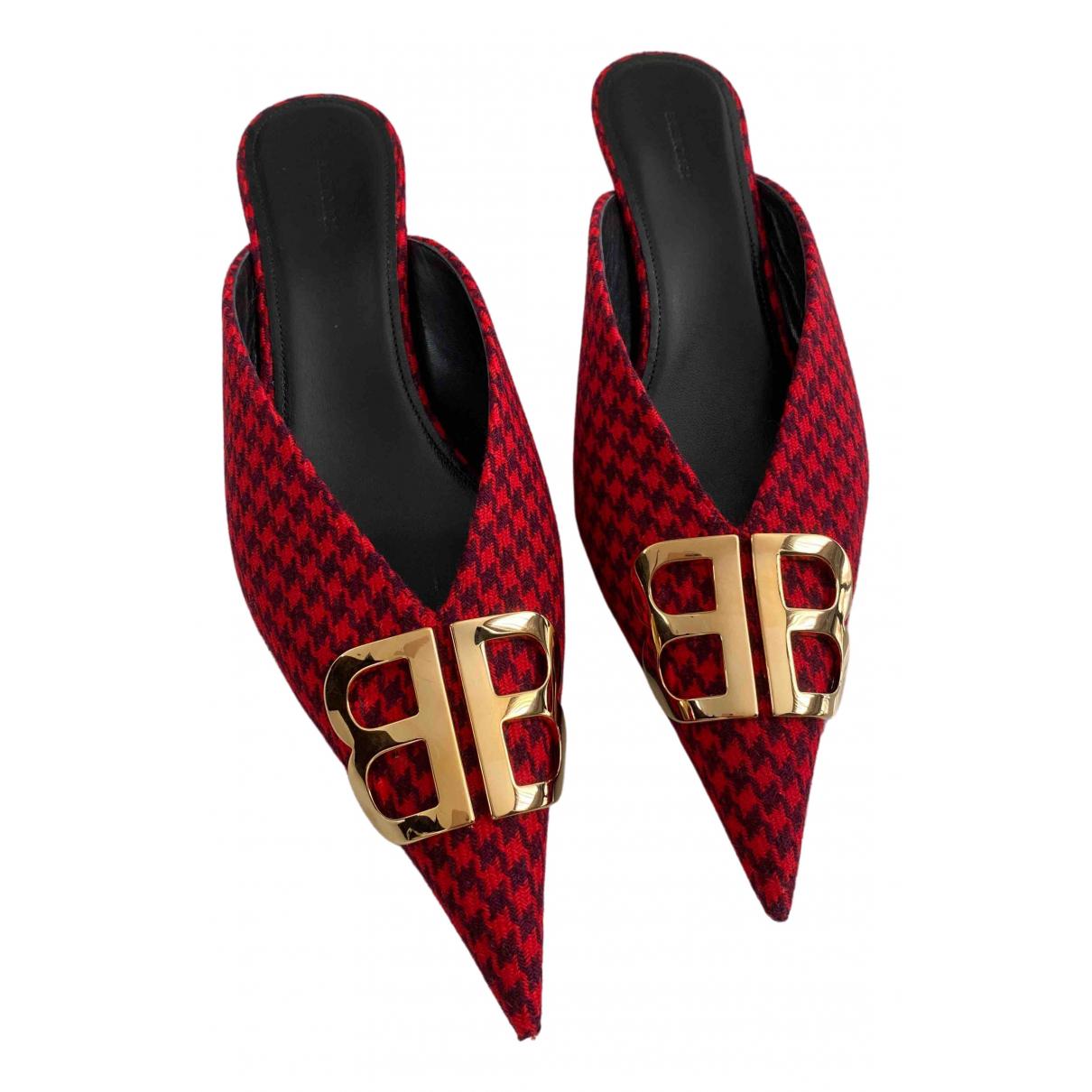 Balenciaga - Ballerines Knife pour femme en tweed - rouge