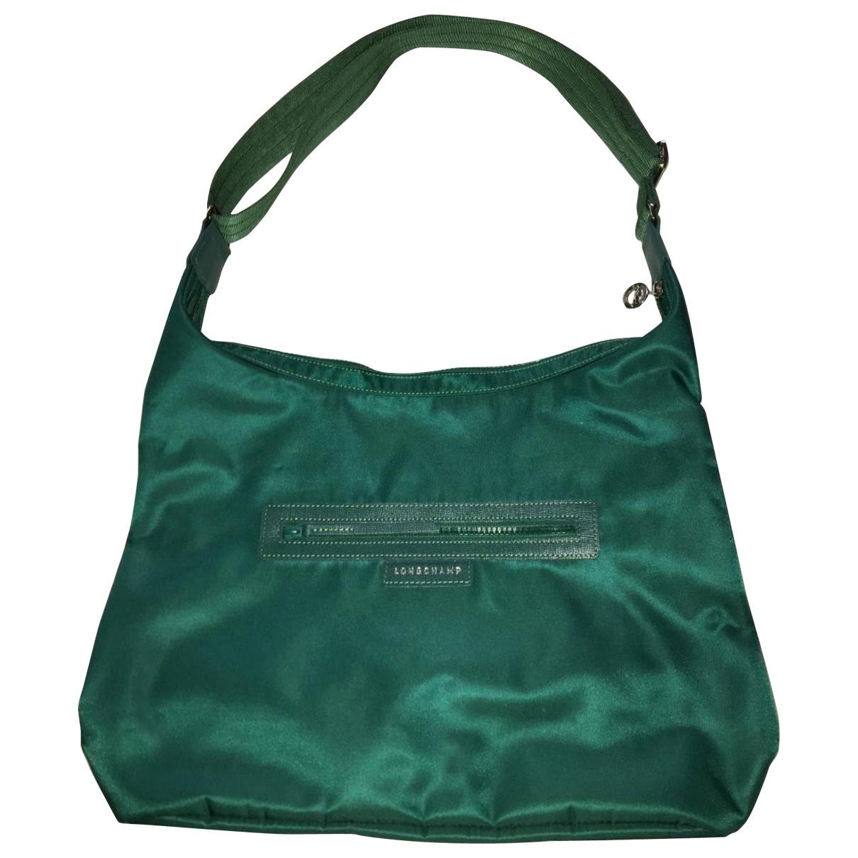 Longchamp \N Handtasche in  Gruen Leinen