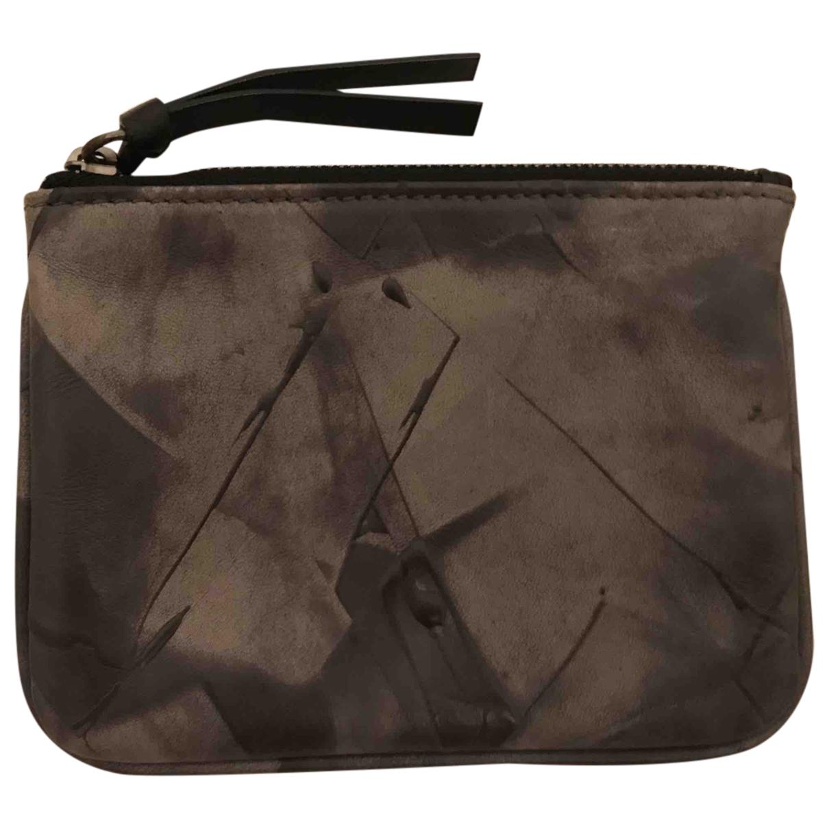 Givenchy - Petite maroquinerie   pour homme en cuir - anthracite
