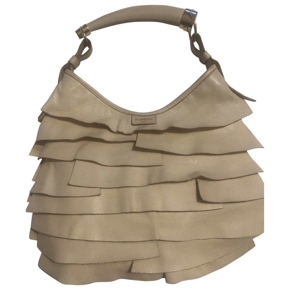 Yves Saint Laurent Mombasa Beige Leather handbag for Women \N