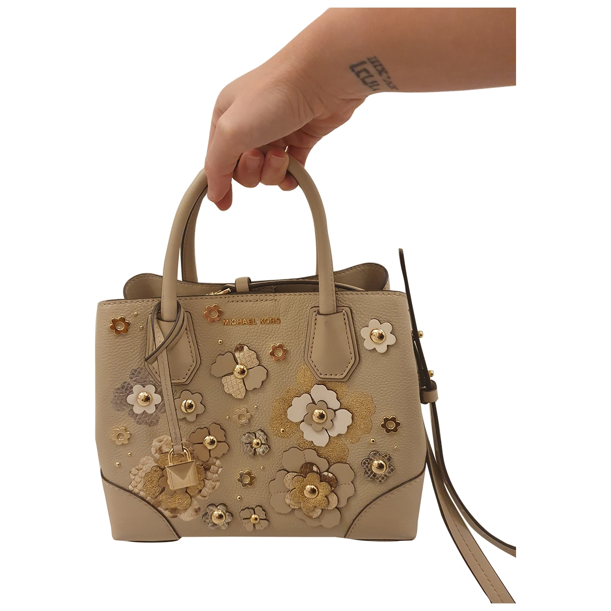 Michael Kors Adele Beige Leather handbag for Women \N