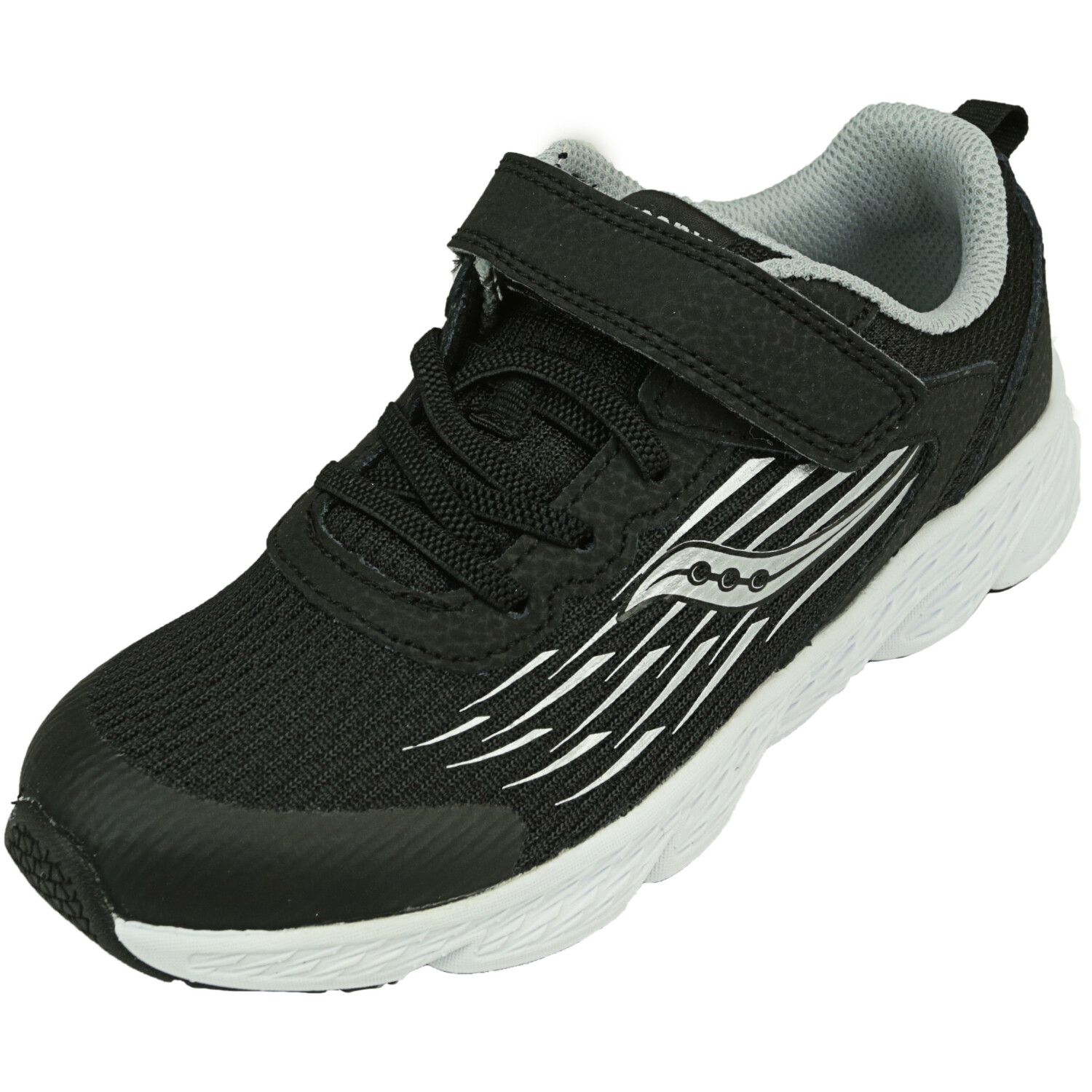 Saucony Boy's Wind A/C Black Ankle-High Mesh Running - 1W