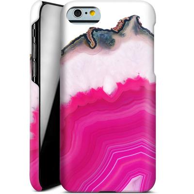Apple iPhone 6 Smartphone Huelle - Pink Agate Slice von Emanuela Carratoni