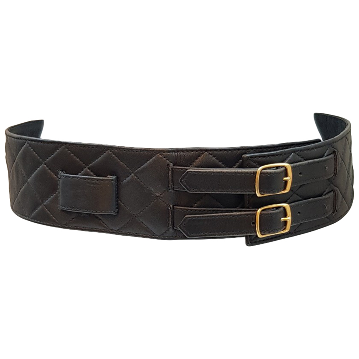 Chanel \N Black Leather belt for Women 80 cm