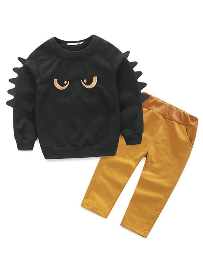 Ericdress Cartoon Hoodies Plain Pants Baby Boy's Outfits