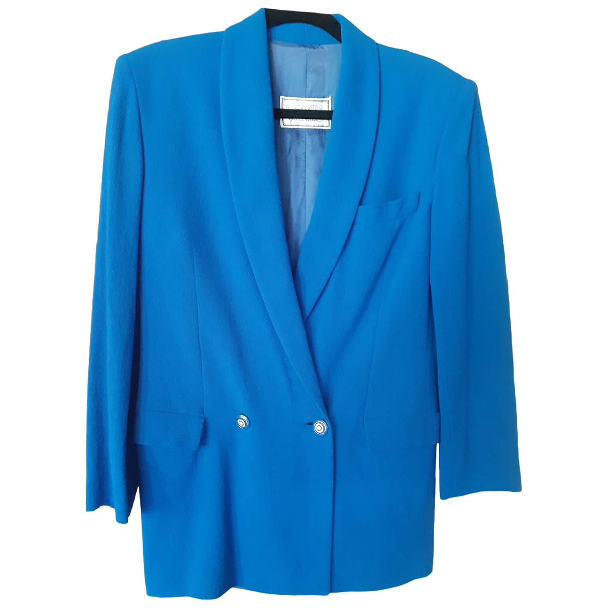 Versus \N Blue Wool jacket for Women 42 IT