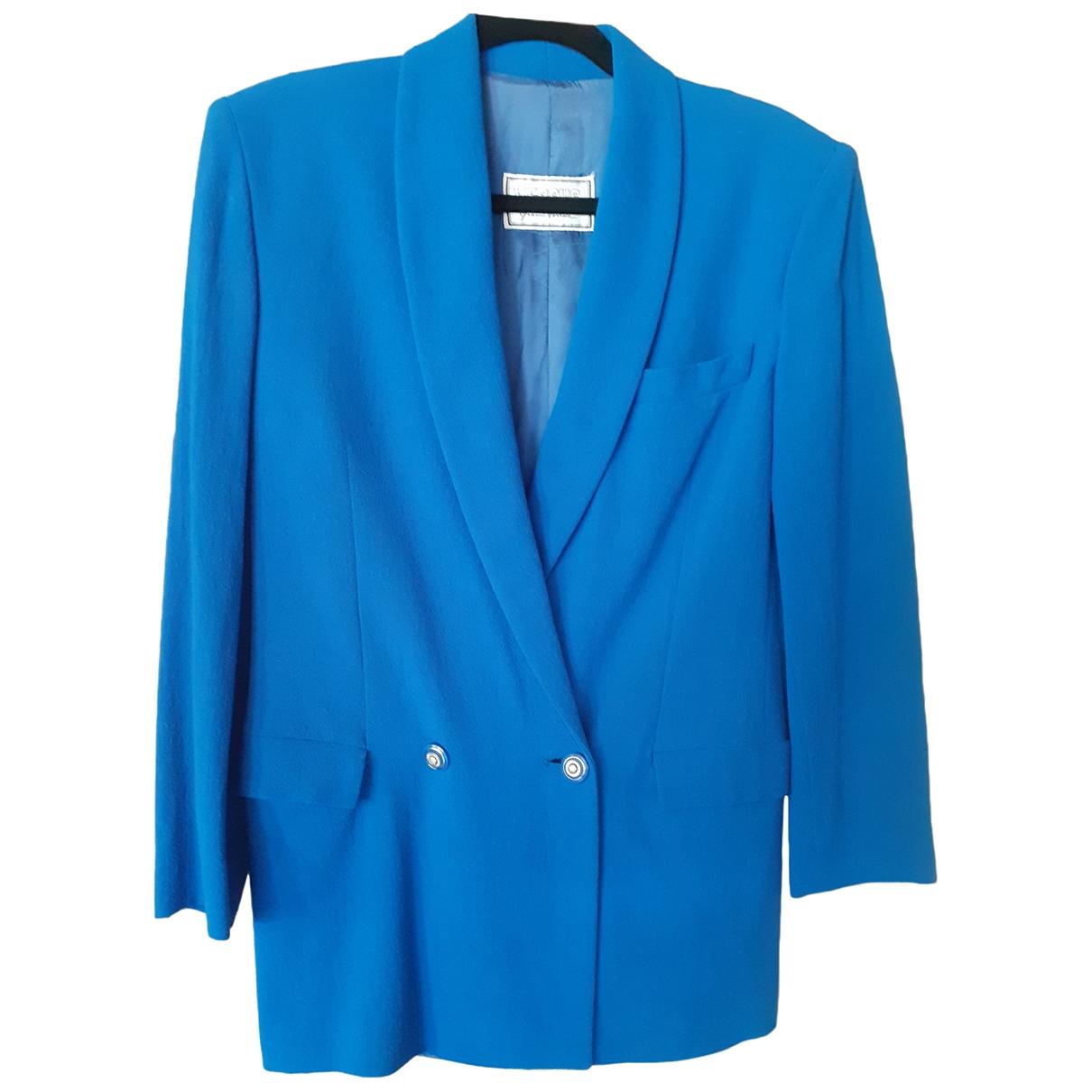 Versus - Veste   pour femme en laine - bleu