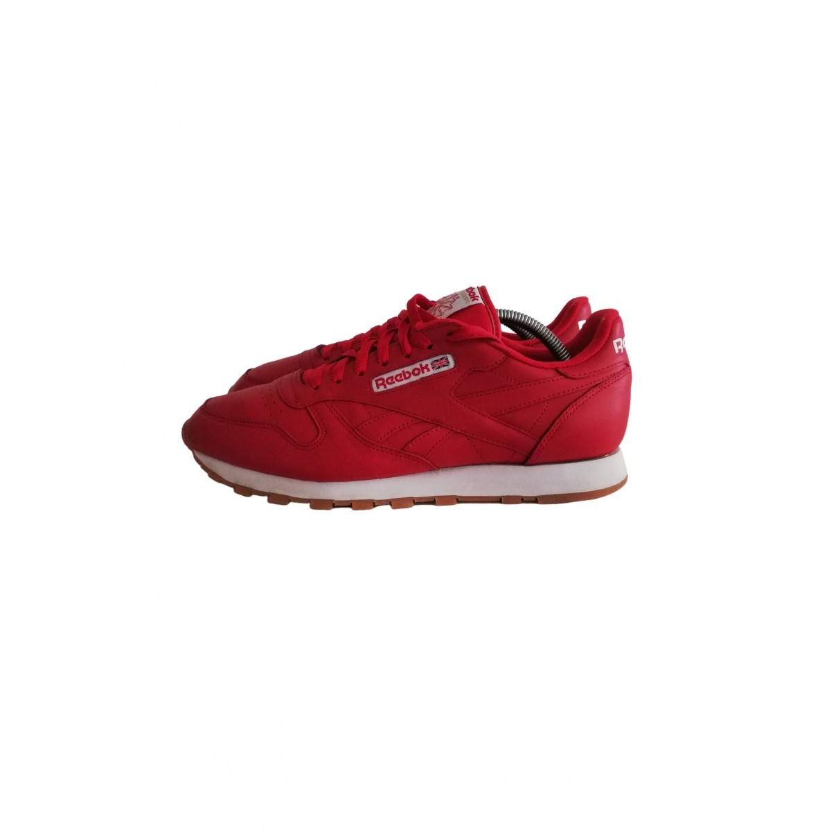 Reebok \N Sneakers in  Rot Leder