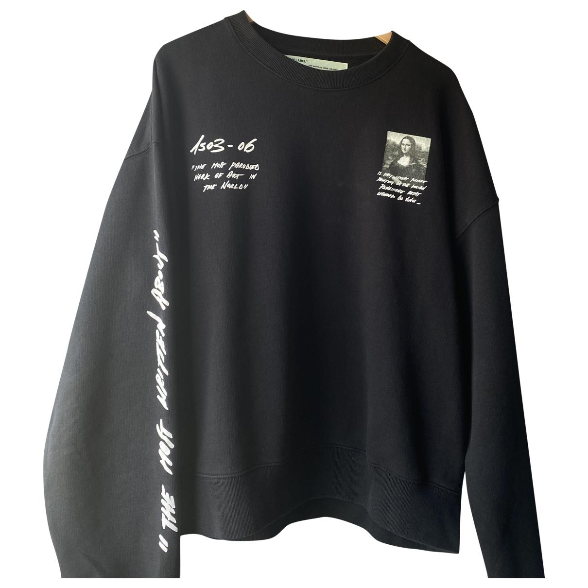 Off-white \N Pullover.Westen.Sweatshirts  in  Schwarz Baumwolle