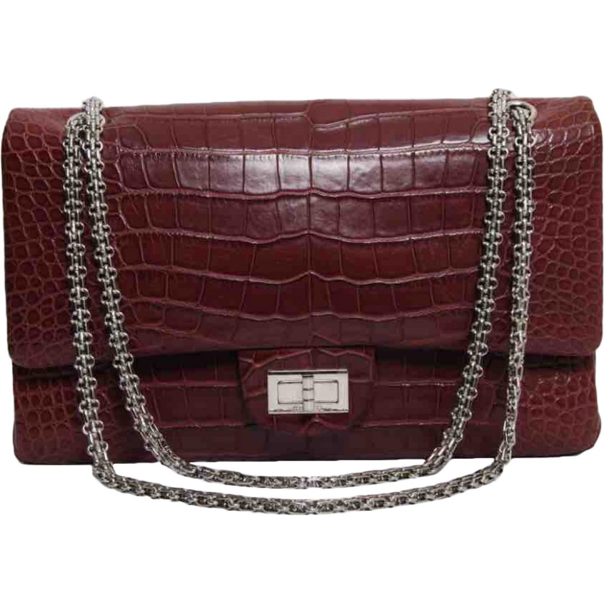 Chanel 2.55 Burgundy Alligator handbag for Women \N
