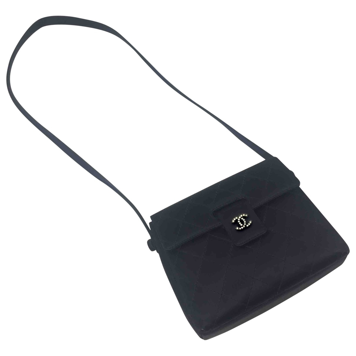 Chanel Timeless/Classique Black Silk handbag for Women \N