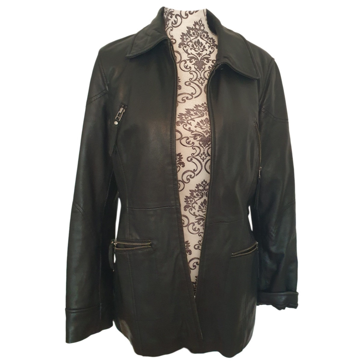 Mac Douglas - Veste   pour femme en cuir - noir