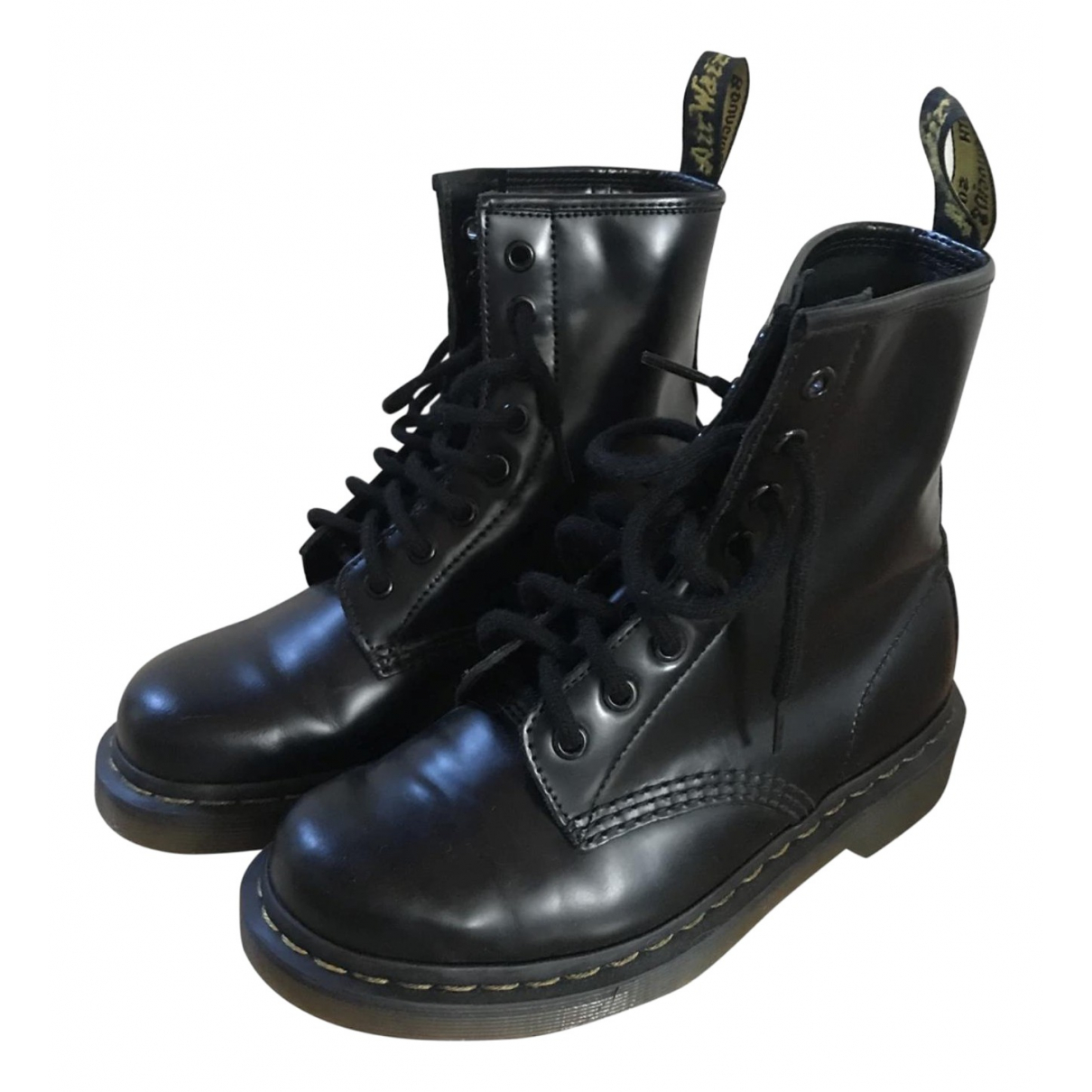 Dr. Martens 1460 Pascal (8 eye) Black Leather Boots for Women 36 EU