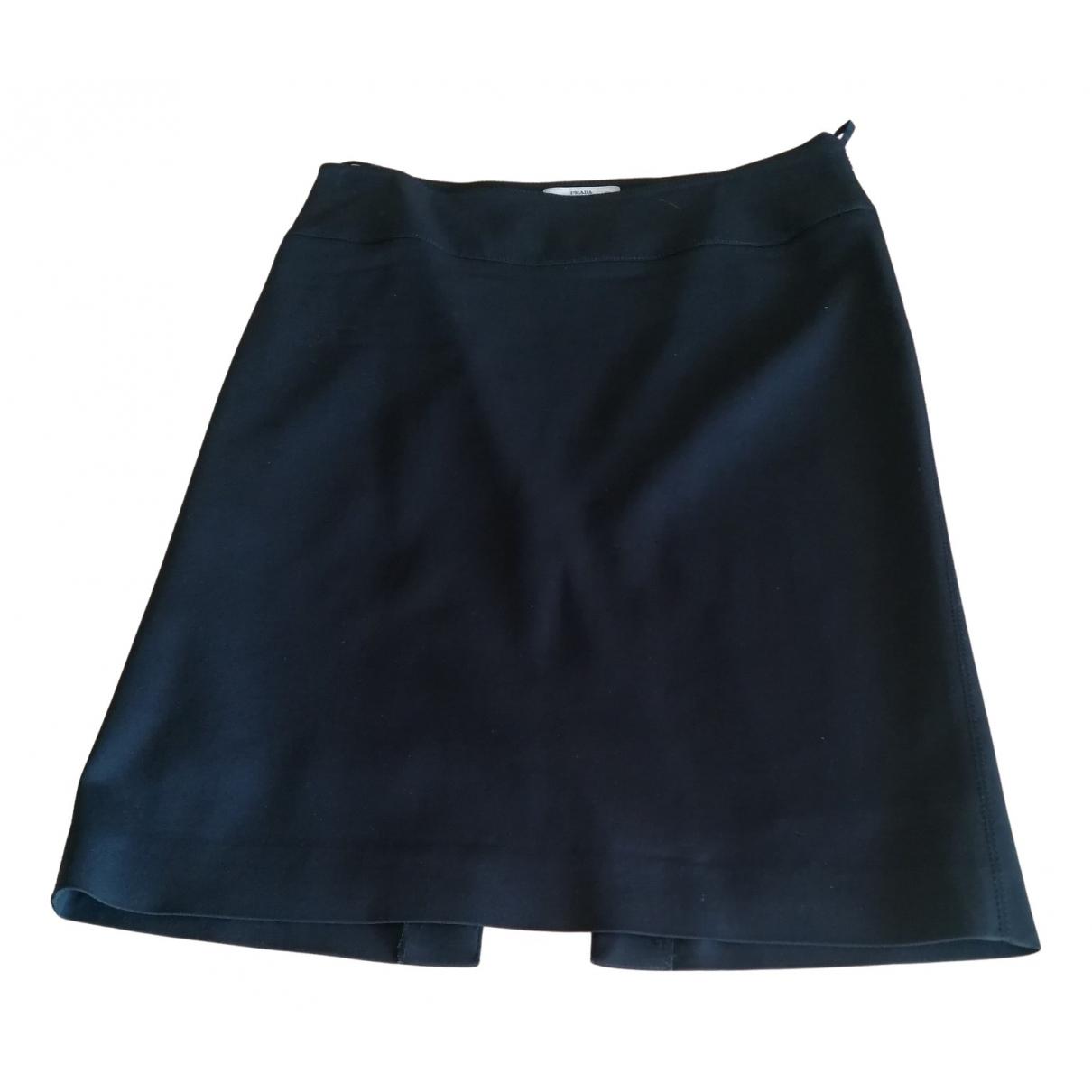 Prada N Black Cotton - elasthane skirt for Women 40 FR