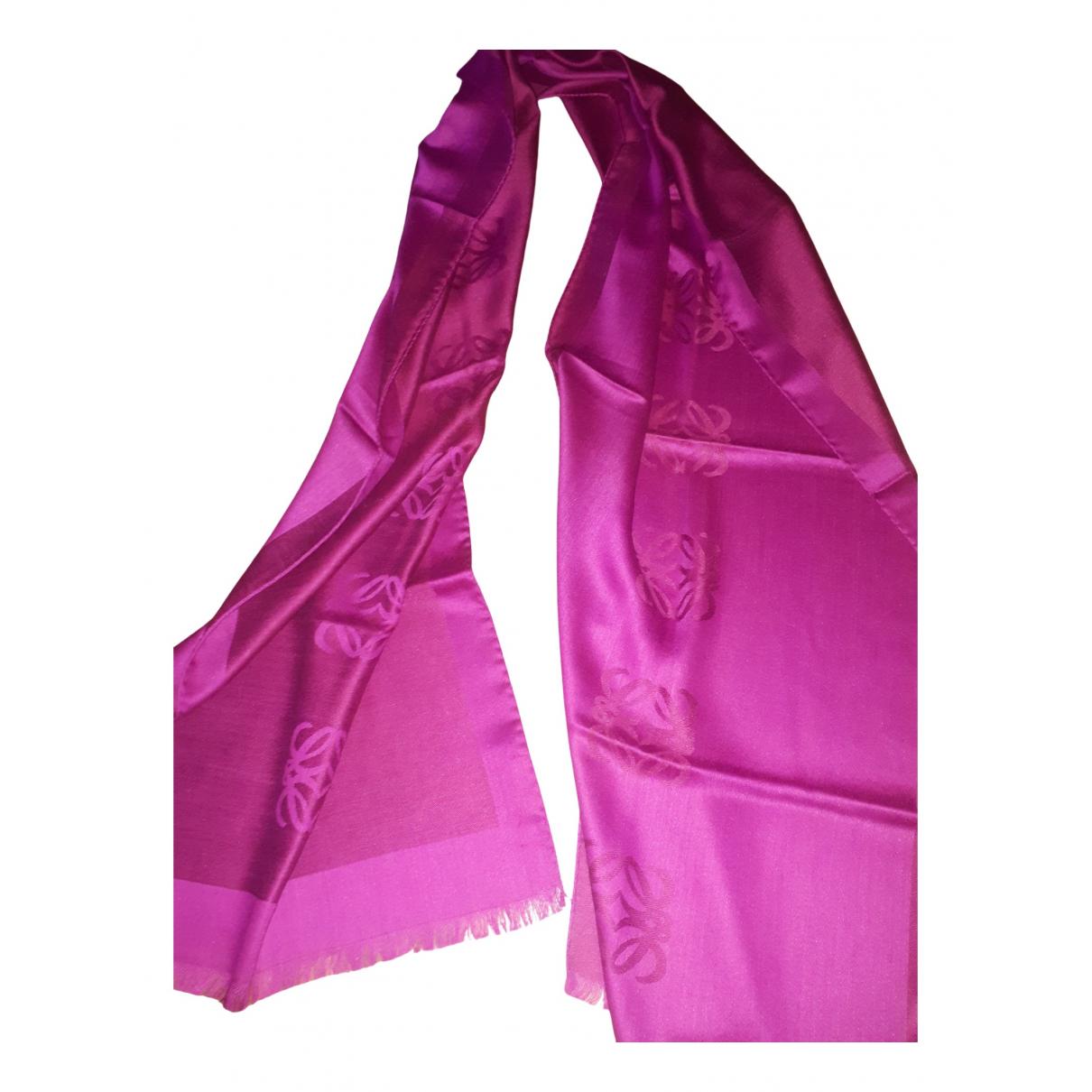 Loewe - Foulard   pour femme en laine - rose