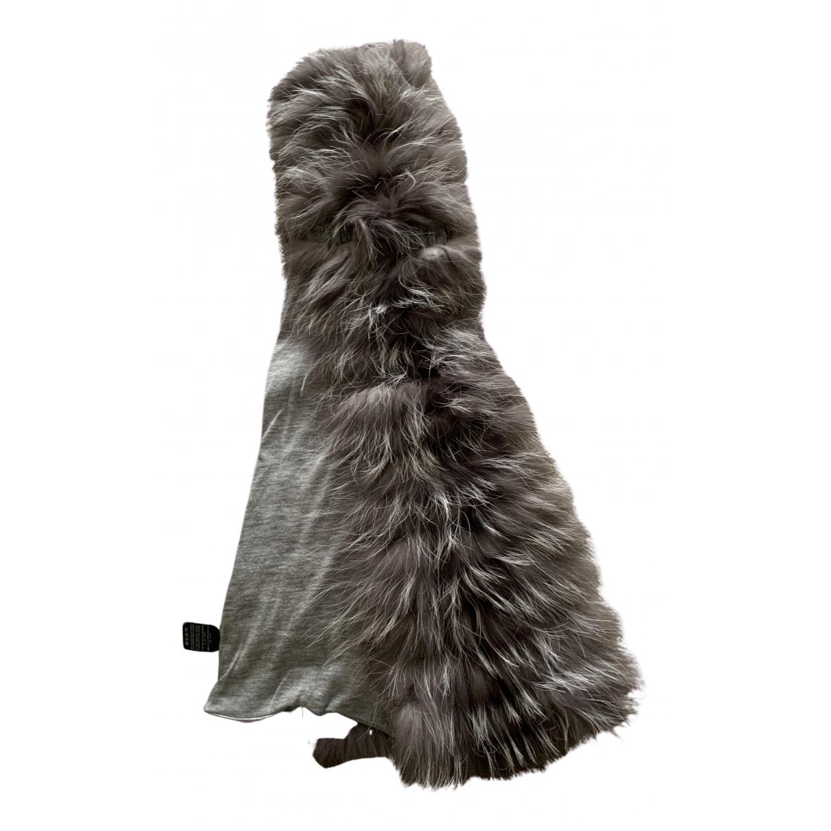 Franco Ferrari N Grey Fur scarf for Women N
