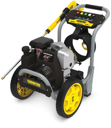 100783 3200-PSI Gas Pressure Washer with 5 Nozzles  2.5 GPM  Steel Frame  187cc Engine and 12