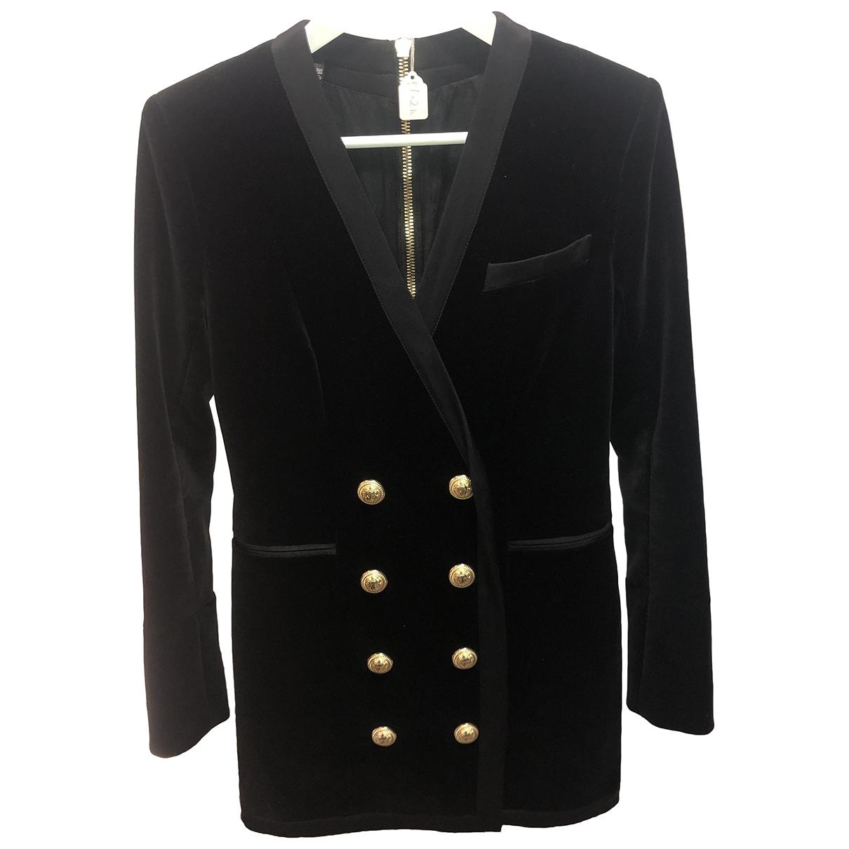 Balmain - Robe   pour femme en velours - noir
