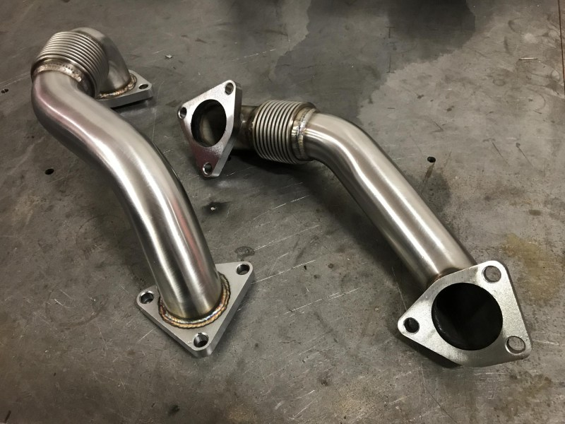 2001-2016 Chevrolet / GMC 2 Inch Replacement Up-Pipes Raw HSP Diesel 031-HSP-RAW