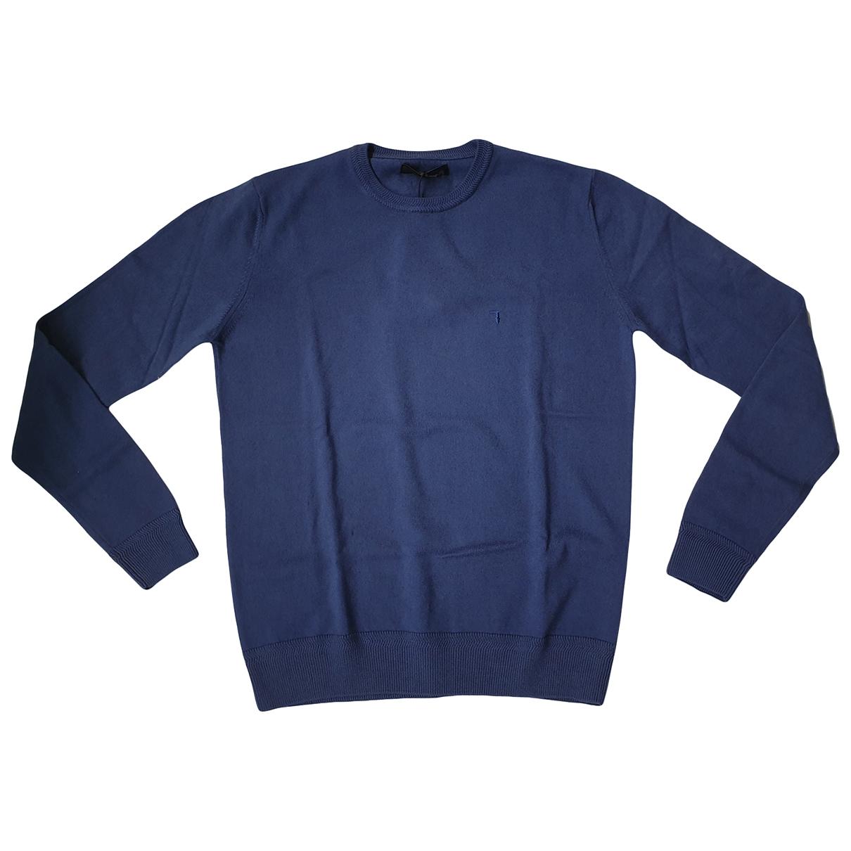 Trussardi - Pulls.Gilets.Sweats   pour homme en coton - bleu