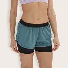 shorts deportivos 2 en 1 de cintura elastica