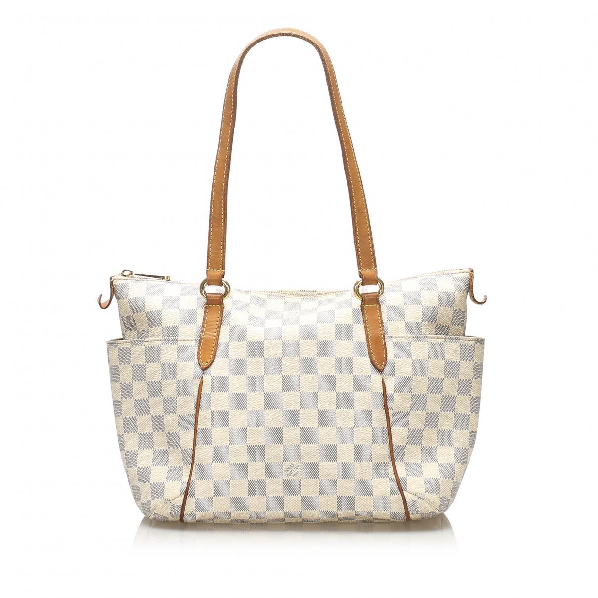 Louis Vuitton Totally Handtasche in  Weiss Leinen