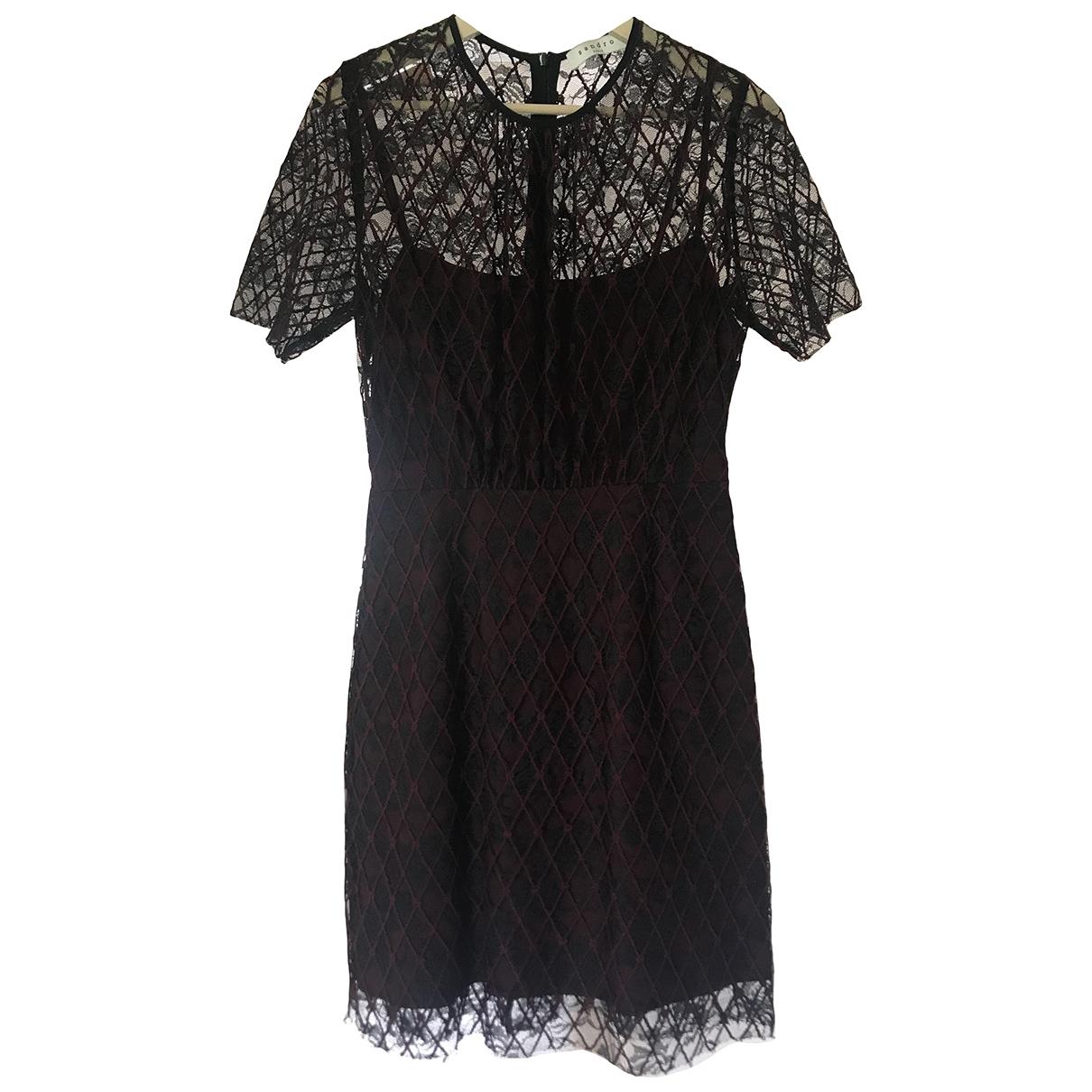 Sandro \N Kleid in  Bordeauxrot Baumwolle - Elasthan