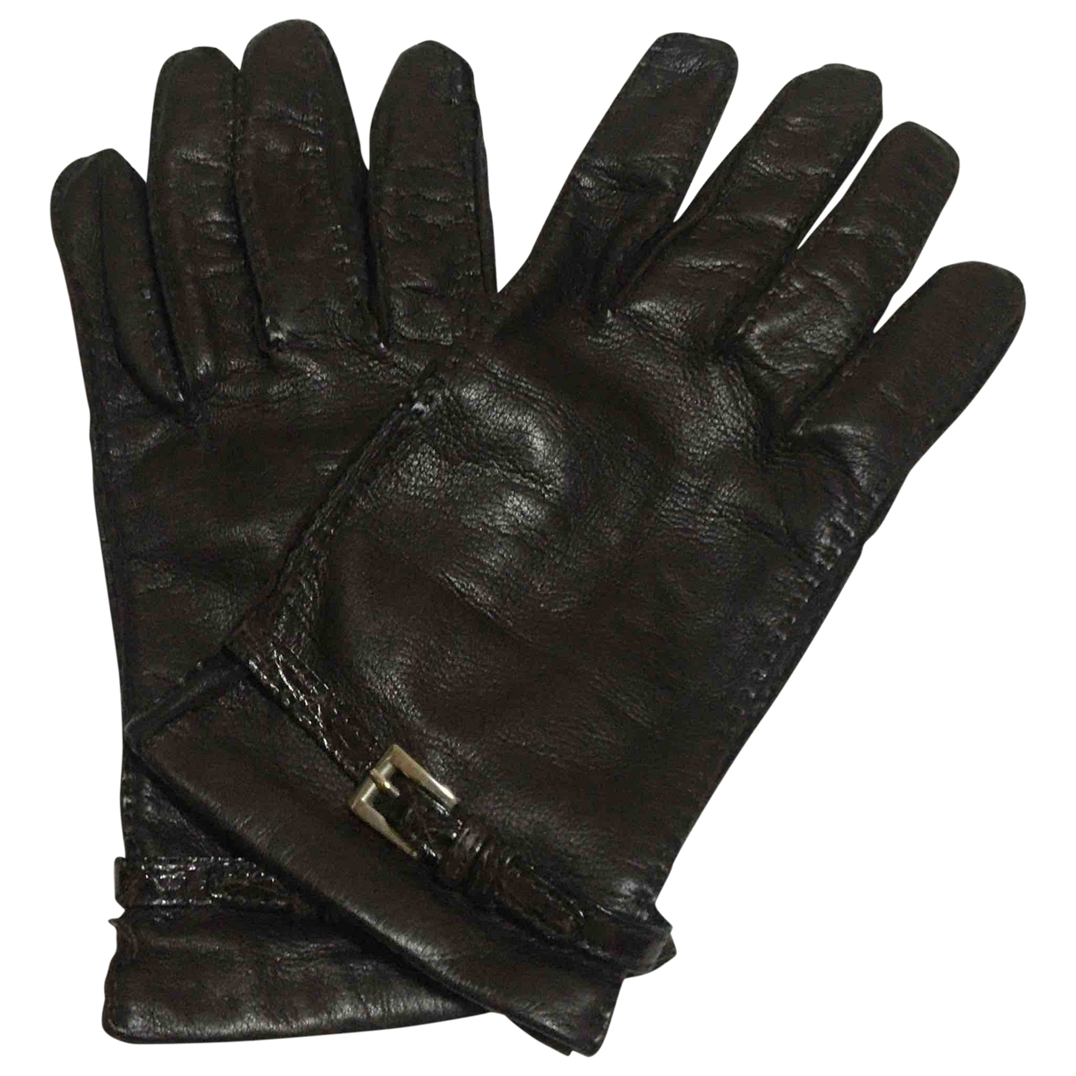 Prada \N Handschuhe in  Braun Leder