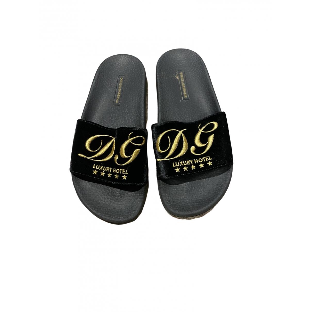 Zuecos de Terciopelo Dolce & Gabbana