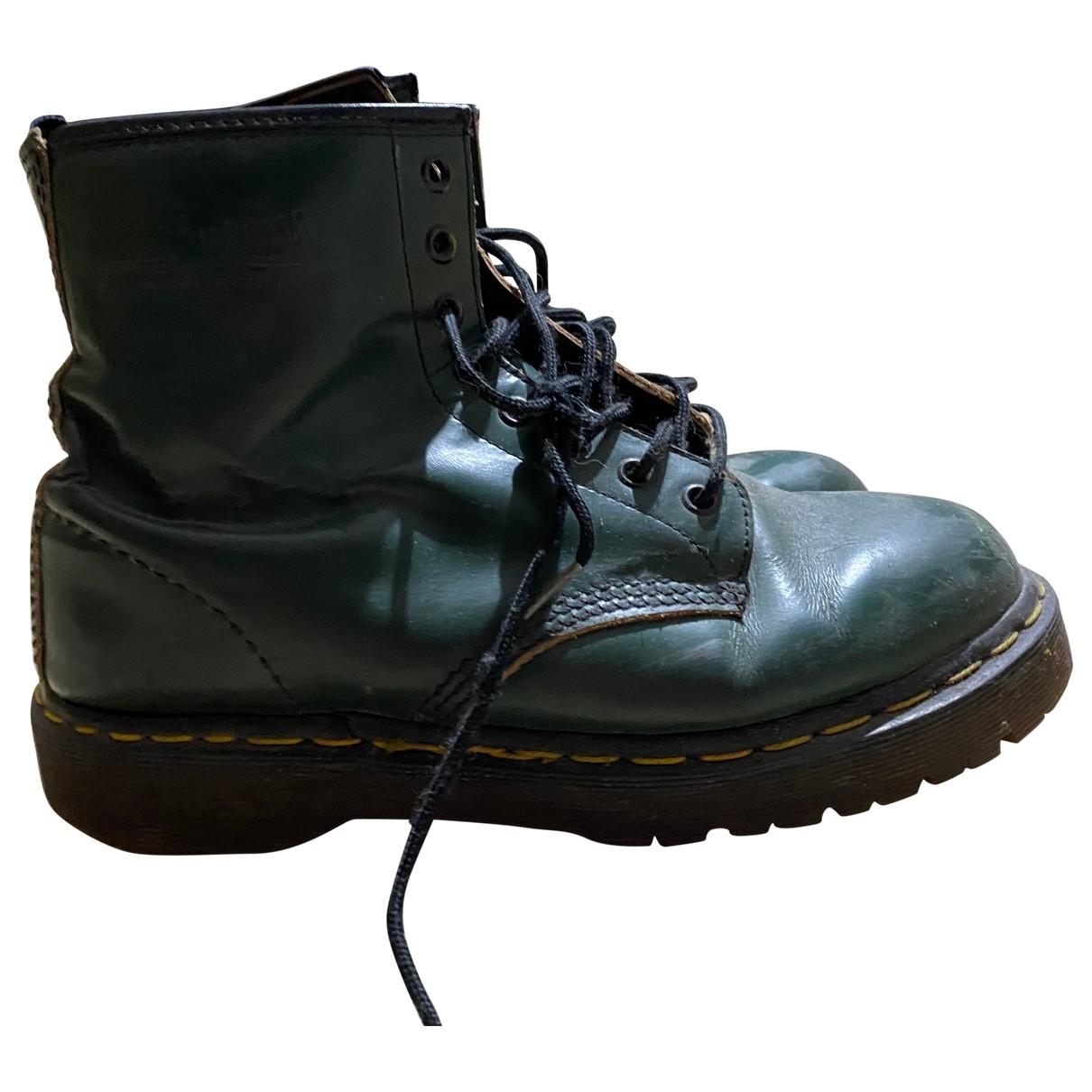 Dr. Martens - Boots   pour femme en cuir - vert